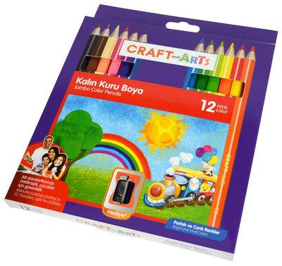 Craft and Arts Kuru Boya Jumbo 12 li Paket