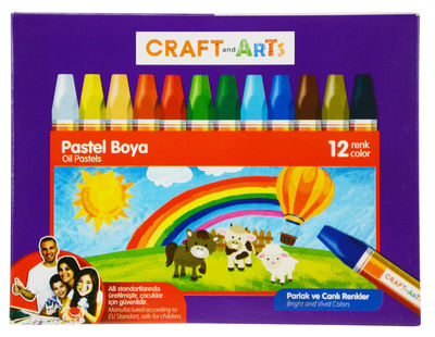 Craft and Arts Pastel Boya 12 li Karton Kutu