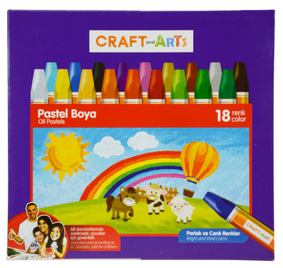 Craft and Arts Pastel Boya 18 li Karton Kutu