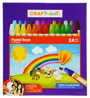 Craft and Arts Pastel Boya 24 lü Karton Kutu