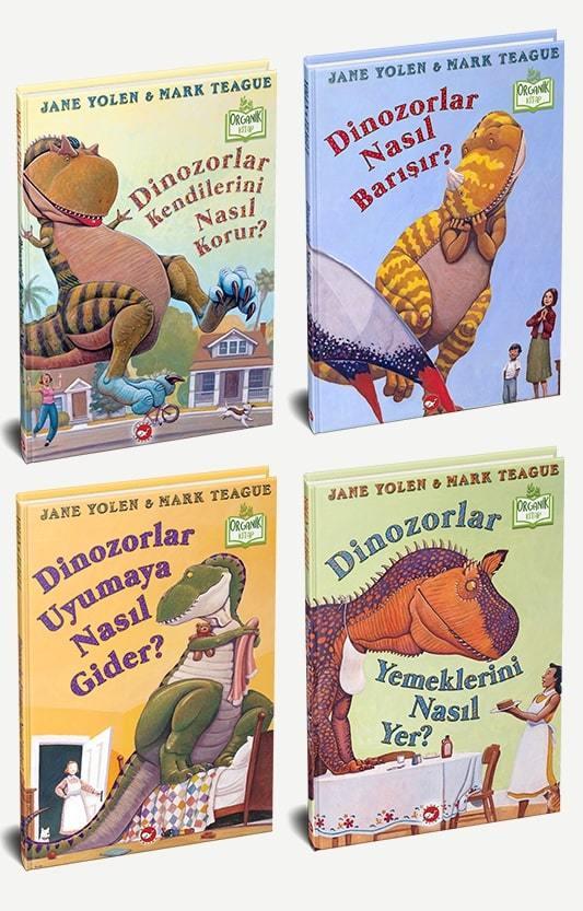 Dinozorlar Serisi 4 Kitap -Organik-