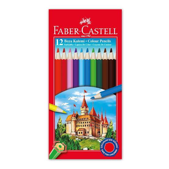 Faber Castell 12'li kuru boya karton kutu