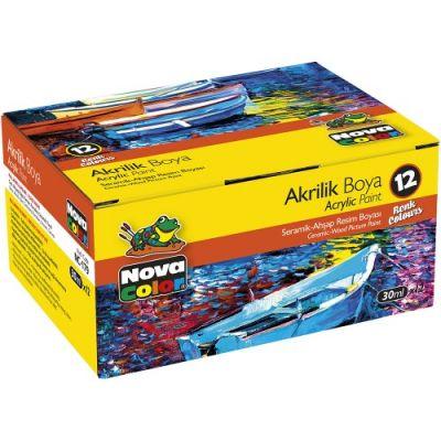Nova Color Akrilik Boya Şişe 12li