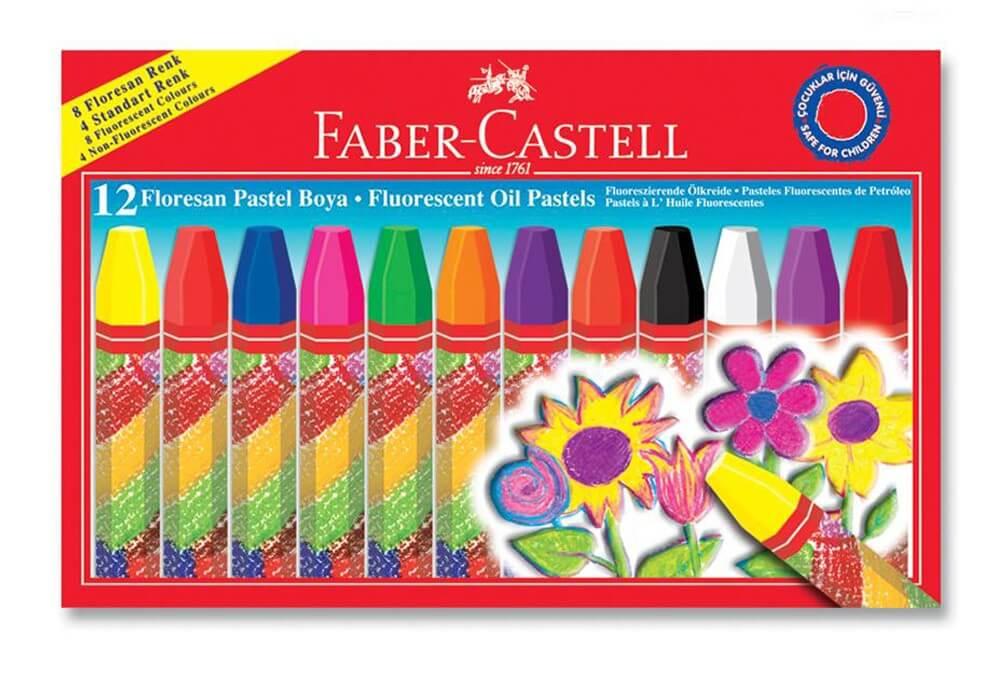 Faber Castell Floresan Pastel Boya 12 Renk